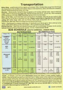 Sorya Bus Schedule